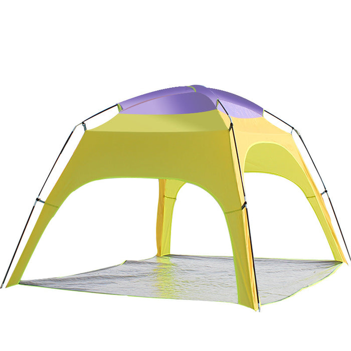 Outdoor 3-4 Persons Camping Tent Automatic Opening Beach UV Rain Sunshade Canopy With Bottom Mat