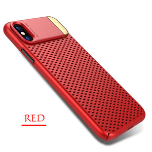 Bakeey Kickstand Mesh Dissipating Heat Hard PC Case for iPhone X