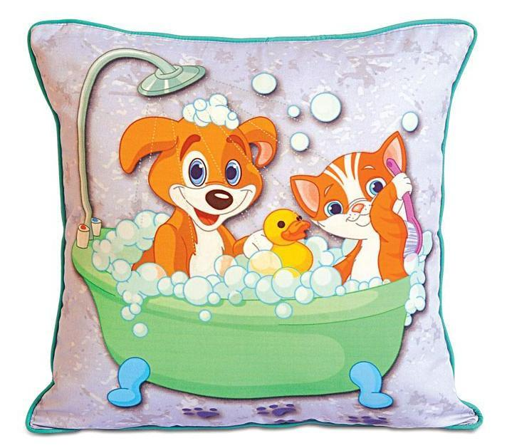 BUBBLE BATH KIDS CUSHION COVER - Flickdeal.co.nz