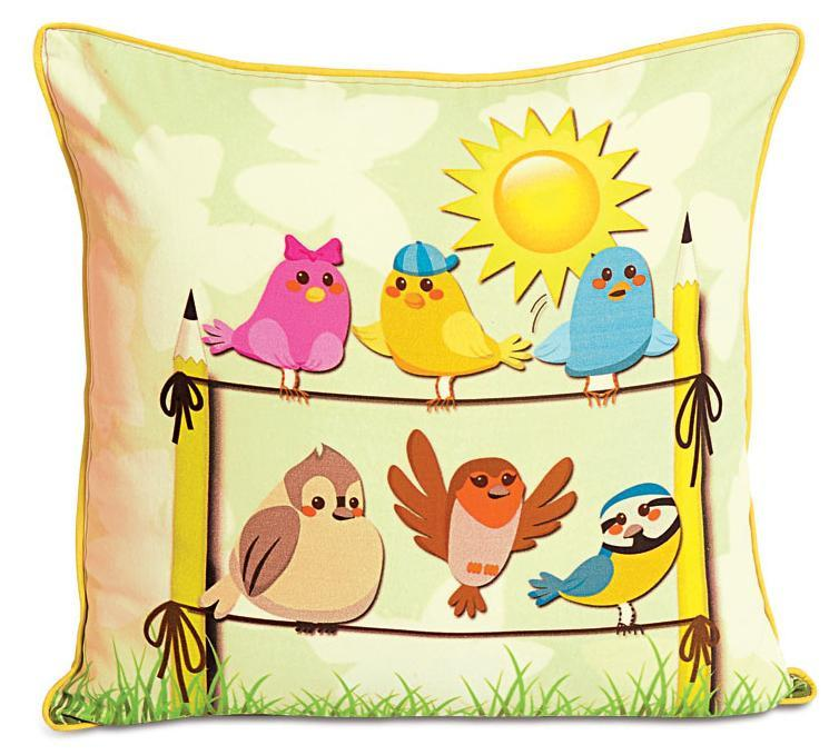 BIRDS KIDS CUSHION COVER - Flickdeal.co.nz