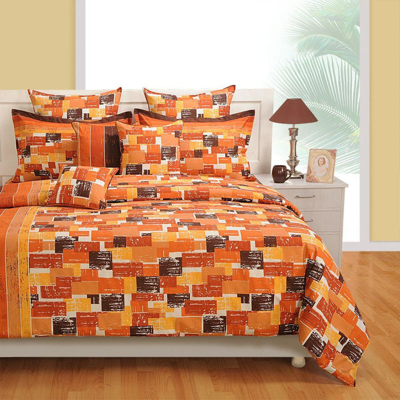 Canopus  Orange Bed Linen Set - Flickdeal.co.nz