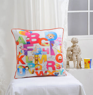 ALPHABET KIDS CUSHION COVER - Flickdeal.co.nz