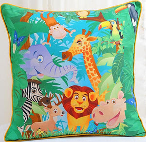 JUNGLE KIDS CUSHION COVER - Flickdeal.co.nz