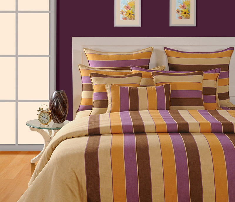 Canopus Striped Duvet Cover Set Flickdeal