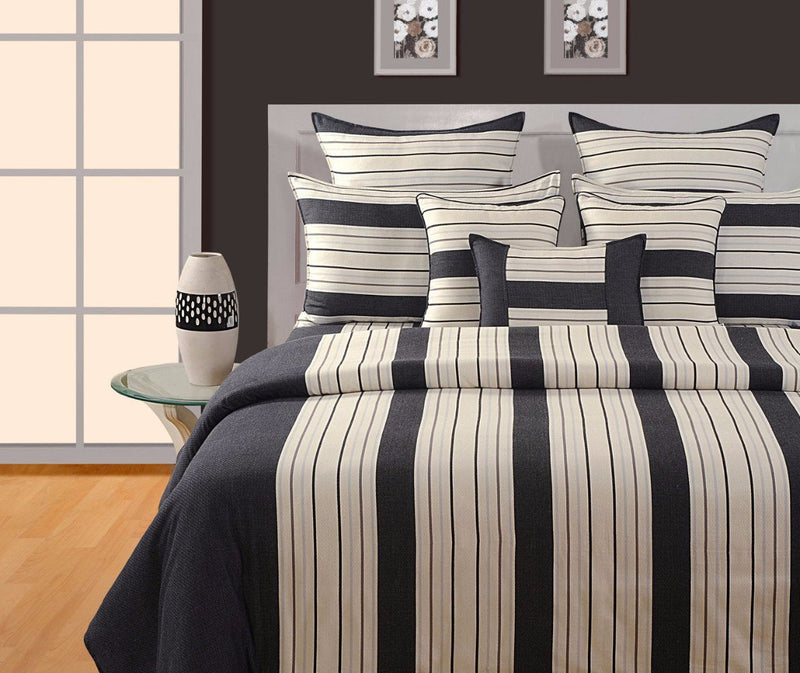 BLACK STRIPED DUVET COVER - Flickdeal.co.nz