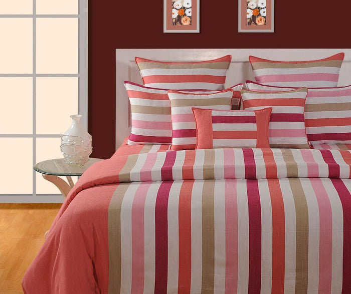 CANOPUS PEACH PINK DUVET COVER SET