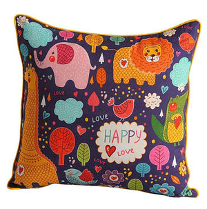 HAPPY LOVE KIDS CUSHION COVER - Flickdeal.co.nz