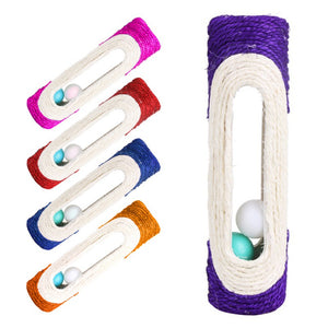 Funny New Pet Cat Toys Rolling Sisal Scratching Post Trapped With 3 Ball Pet Toys