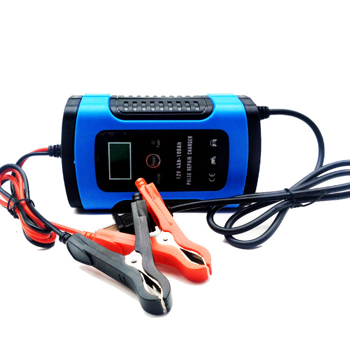 iMars™ 12V 6A Blue Pulse Repair LCD Battery Charger For Car Motorcycle Lead Acid Battery Agm Gel Wet