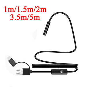 Bakeey 7MM Type-c USB Micro USB 3-in-1 Endorscope For Samsung S7 Xiaomi Redimi Note4 PC PAD