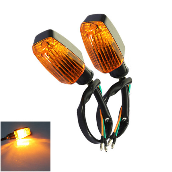 2pcs Motorcycle Plastic Turn Signals Indicators Turning Lights