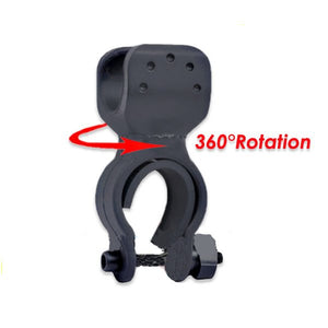 Flashlight Mount Holder Clip LED Bicycle Bike Torch 360