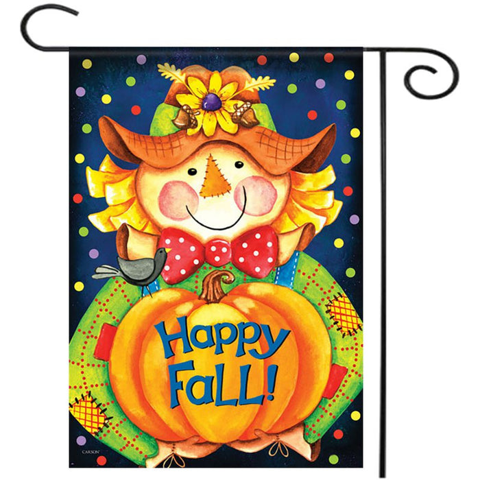 "28""x40"" Happy Smile Fall Scarecrow Welcome House Garden Flag Yard Banner Decorations"
