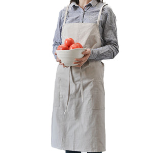 Cotton Aprons Kitchen Baking Overalls Pure Warm Color Simple Plain Style Apron