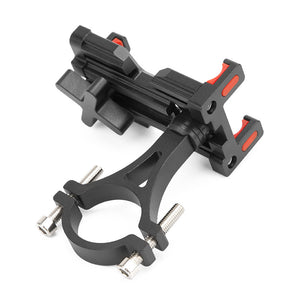 PROMEND SJJ-291 Aluminium Alloy 4-6.4in Bicycle Fixed Phone Holder MTB Bike Handlebar Stand Mount for Iphone/Xiaomi/Samsung/Huawei/GPS