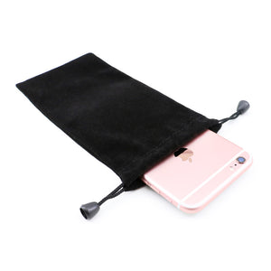 Bakeey™ Black Portable Soft Drawstring Power Bank Storage Bag Collection Pouch