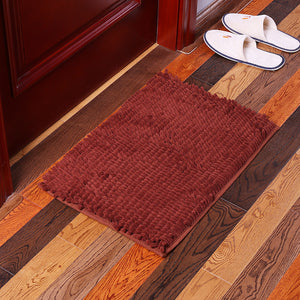 KCASA KC-334 40x60cm Chenille Rough Thick Hair Soft Mat Machine Washable Bathroom Anti Slip Absorbent Carpet Doormat