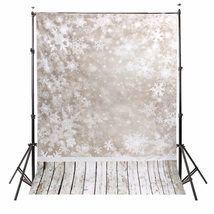 1.5x2.1m Photography Vinyl Background Snow Scenery Snowy Shading Halo Christmas