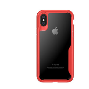 Bakeey™ Anti Fingerprint Transparent Acrylic Soft Silicone Protective Case for iPhone X