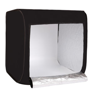 75cm Protable Photography Studio Light Shooting Tent Black/White/Beige Background