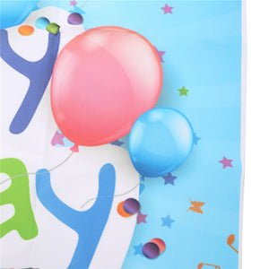 3x5ft Vinyl Happy Birthday Blue Wood Floor Studio Props Photography Background Backdrop