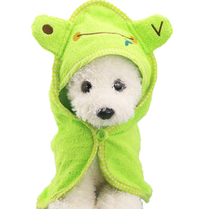 Puppy Dog Towel Drying Towel For Dogs Bathrobe Absorbent Shower Dog Bath Towel Blankets Cleaning