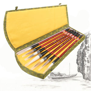 1Set 7Pcs Chinese Brush Pen Traditional Calligraphy Drawing Writing Painting