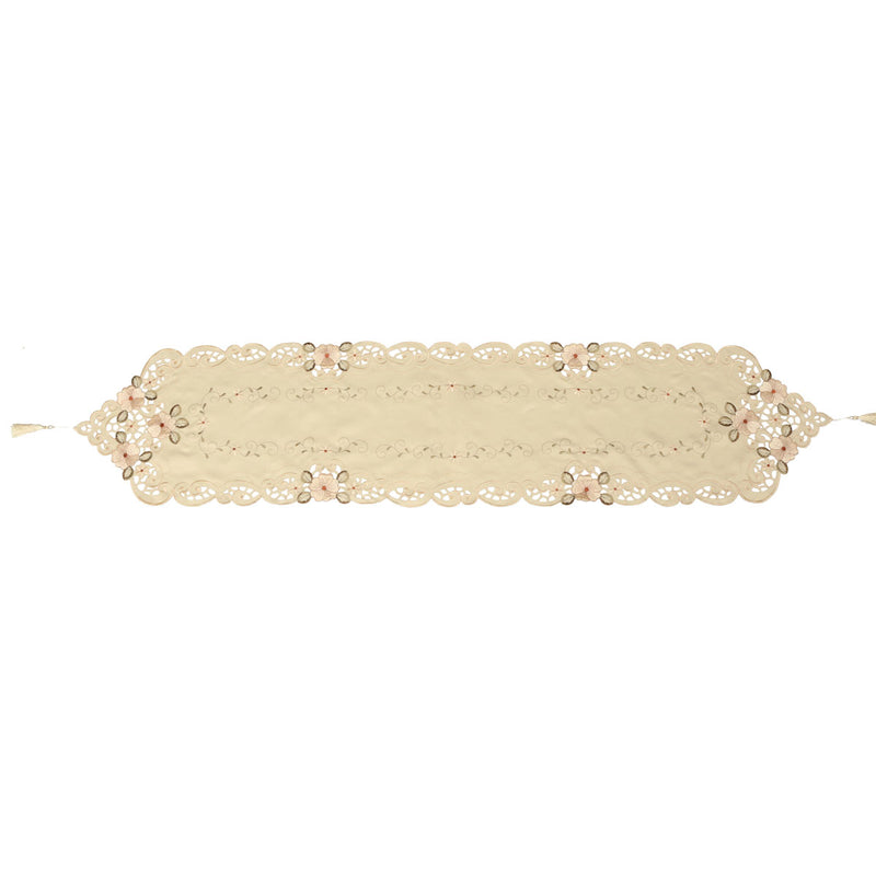 Four Sizes Classical Embroidery Flower Table Runnr Desk Mat Wedding Party Home Decor