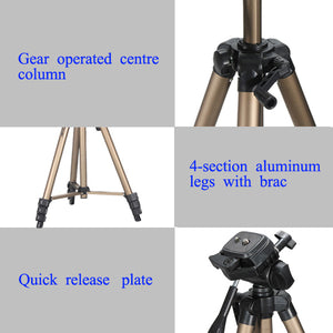 330A 4.5 Feet Aluminum Tripod With Carrying Bag For DSLR Camera