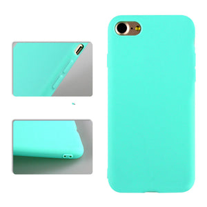 Bakeey Candy Color Matte Soft Silicone TPU Case for iPhone 7/8