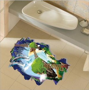 Miico 3D Creative PVC Wall Stickers Home Decor Mural Art Removable Wonderful View Wall Decals