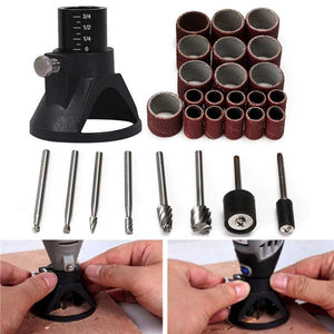29pcs Drill Carving Positioner Locator with Sanding Bands and Rotary Burr  for Rotary Tool