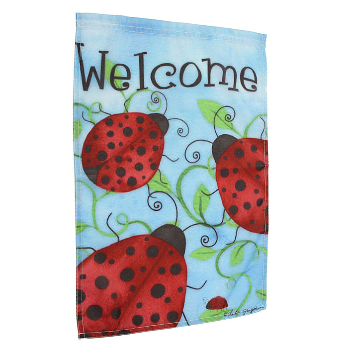 "12""x18'' Ladybirds Welcome Garden Flags Yard Banner Holiday House Decorations"