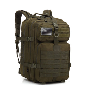 45L Tactical Army Military 3D Molle Assault Rucksack Backpack Outdoor Hiking Camping Traveling Bag