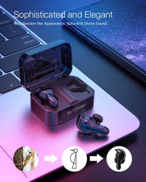 Bluetooth 5.0 True Wireless Earphone Stereo Headphones with Charging Box
