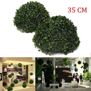 35cm Plastic Artificial Topiary Grass Ball Leaf Effect Ball Wedding Gardening Hanging Decoration