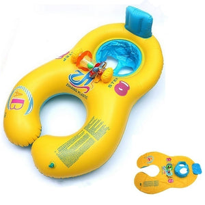 ABC Safe Inflatable Mother And Baby Swim Float Boat Raft Kid's Chair Seat Boat