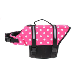 M Pet Aquatic Reflective Preserver Float Vest Dog Cat Saver Life Jacket New