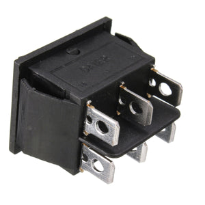 12 Volt 6-Pin DPDT Power Window Momentary Rocker Switch AC 250V/10A 125V/15A