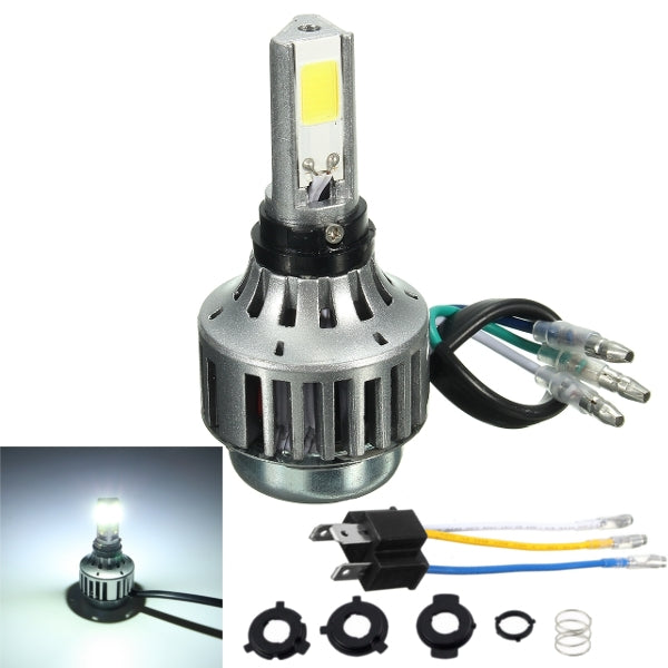 H4 32W 3000lm 6000K Hi/Lo Lamp COB Motorcycle LED Headlight Bulb