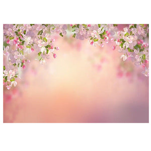 7x5FT Peach Flower Board Photography Backdrop Studio Prop Background