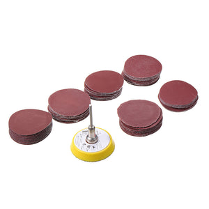 60pcs 50mm Sanding Disc Sandpaper with  Backing Pad for Dremel Rotary Tool