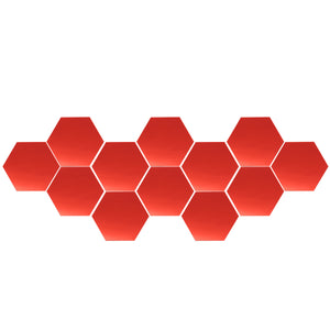 12Pcs 12.6cm Mirror Wall Sticker Vinyl Hexagon Removable Acrylic 3D Mirror DIY Home Room Decor Art