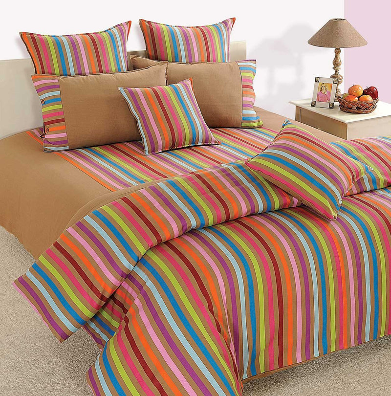 CANOPUS MULTI COLOR STRIPED DUVET COVER - Flickdeal.co.nz