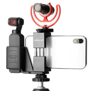 Ulanzi OP-1 Holder ST-02 Phone Clip Clamp MT-03 Tripod with 360 Degree Rotation Ballhead for DJI OSMO Pocket Gimbal Camera