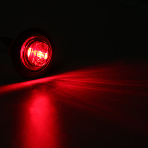 12V/24V Mini Round LED Bullet Button Side Marker Lights Metal