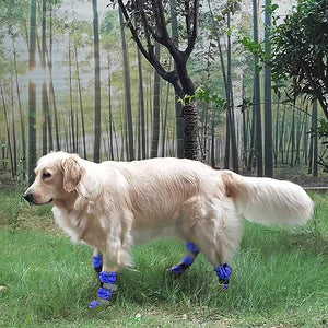 4pcs Dog Rain Snow Boot Waterproof Anti-slip Winter Pet Dog Shoes Rain Snow Boots Footwear Thick Warm Dog Socks Reflective