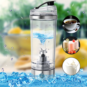 250ML Portable USB Rechargeable Protein Shaker Tornado Mixer Bottle HandHeld Drink Stirring Cup