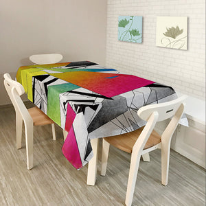 Southeast Asia Rural Home Decor Colorful Lattice Retro Pattern Table Cloth Dining Tablecloth Cover