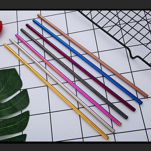 7 Color 215*6mm Metal Straws Stainless Steel Straws